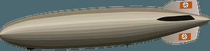 Hindenburg airship clipart