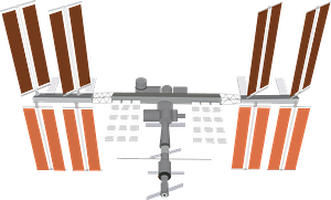 International Space Station (ISS) clipart