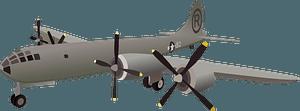 Enola Gay Superfortress bomber clipart
