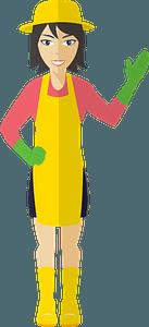 Woman Gardener clipart