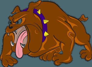 Bulldog enojado clipart