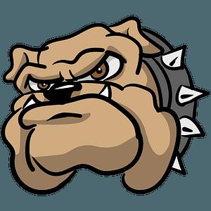 Bulldog head clipart