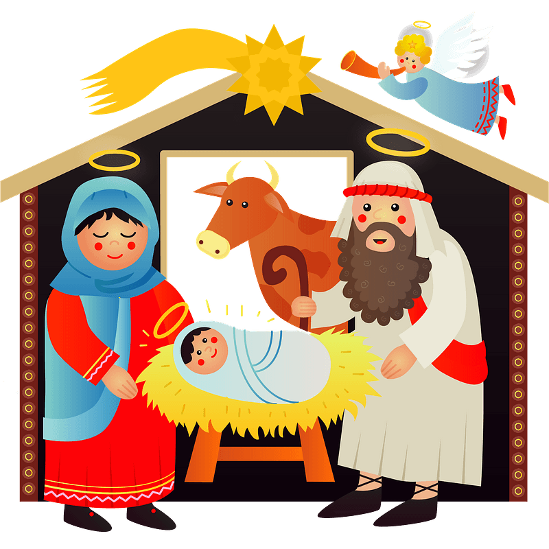 Nativity scene clipart