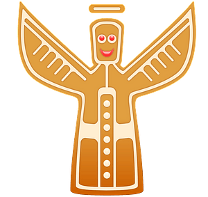 Gingerbread angel clipart