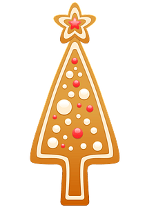Gingerbread Christmas Tree clipart