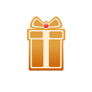 Gingerbread giftbox clipart