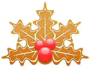 Gingerbread holly clipart