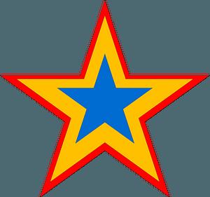 Tricolor star clipart