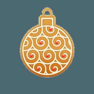 Gingerbread ball ornament clipart