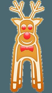 Gingerbread reindeer clipart