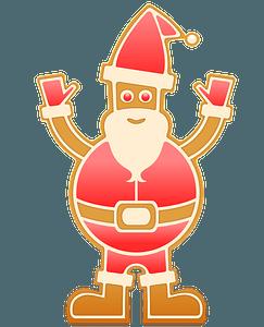 Gingerbread Santa clipart