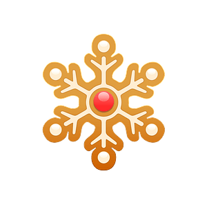 Gingerbread snowflake clipart