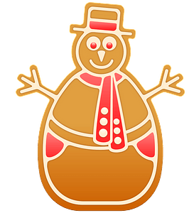 Gingerbread snowman clipart