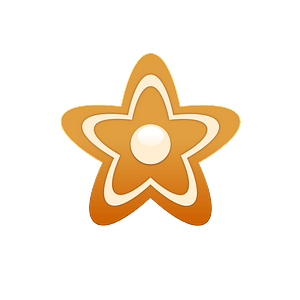 Gingerbread star clipart