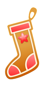 Gingerbread stocking clipart