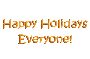Happy Holidays Everyone! clipart