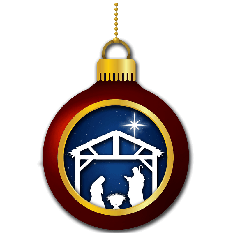 Christmas Ornament With Nativity Scene Clipart Free Download Transparent Png Creazilla