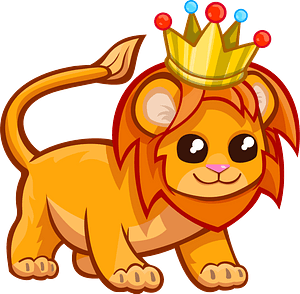 Lion with a crown 클립 아트