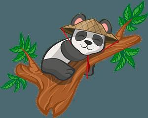 Sleeping panda clipart