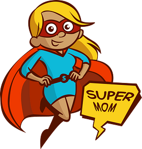 Super mom clipart