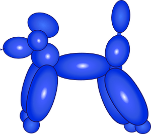 Poodle balloon clipart