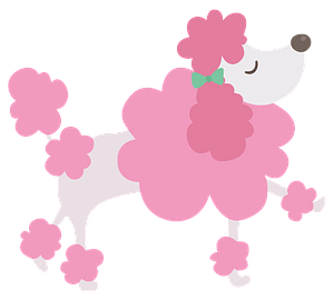 Pink Poodle clipart