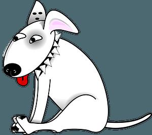 Funny Bull Terrier clipart