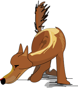 Sniffing Dog clipart