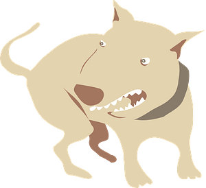 Angry Bull Terrier clipart