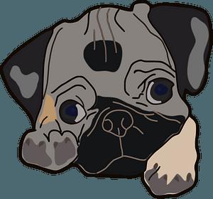 Pug puppy clipart