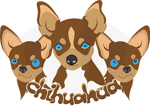 Chihuahua dogs clipart