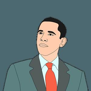 Barak Obama clipart