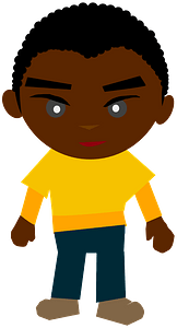 African American Boy clipart