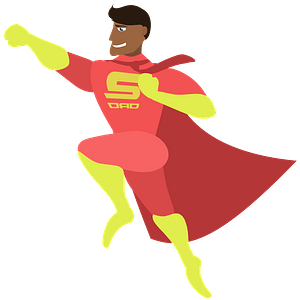 Father Superman clipart