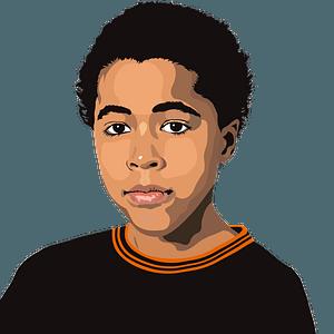 Black boy portrait clipart