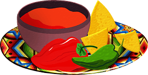 Salsa and chips clipart