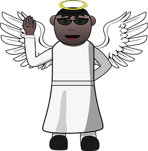 Angel in sunglasses clipart