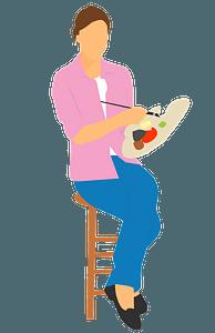 Woman Artist clipart