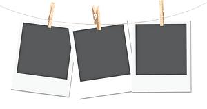 Polaroid film blanks clipart