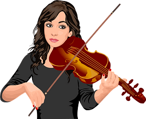 Violinist playing clipart