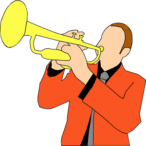 Trumpet player 剪贴画