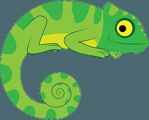 Chameleonのクリップアート