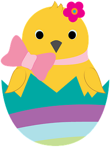 Easter chick immagine clipart