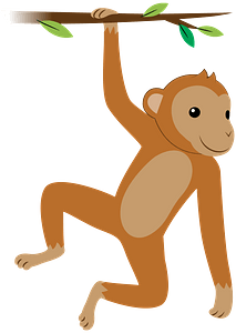 Hanging monkey immagine clipart