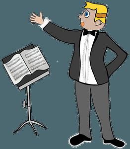 Opera singer clipart