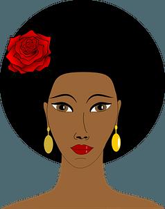 Black woman clipart