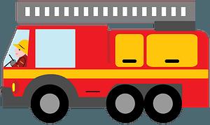 Fire truck clipart