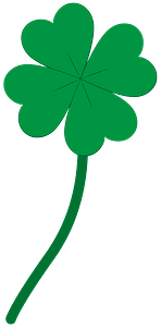 Four leaf clover clipart