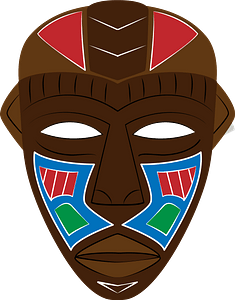 African tribal mask clipart