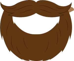 Beard mask clipart